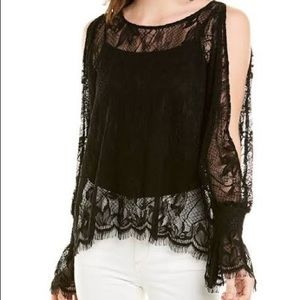 Jade JOHNNY WAS Cecile cold shoulder lace blouse